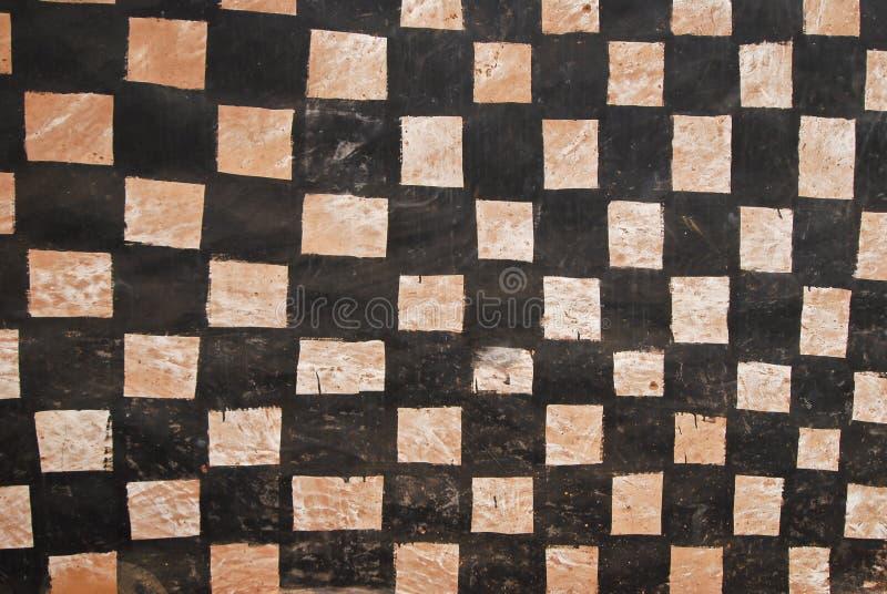 Parede com pintura tribal africana imagens de stock