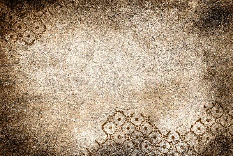 Parede com rachaduras e rhombus ilustração do vetor