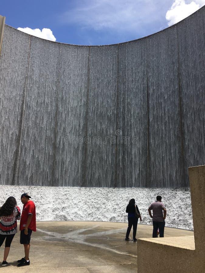 Parede da água em Houston, Texas foto de stock royalty free