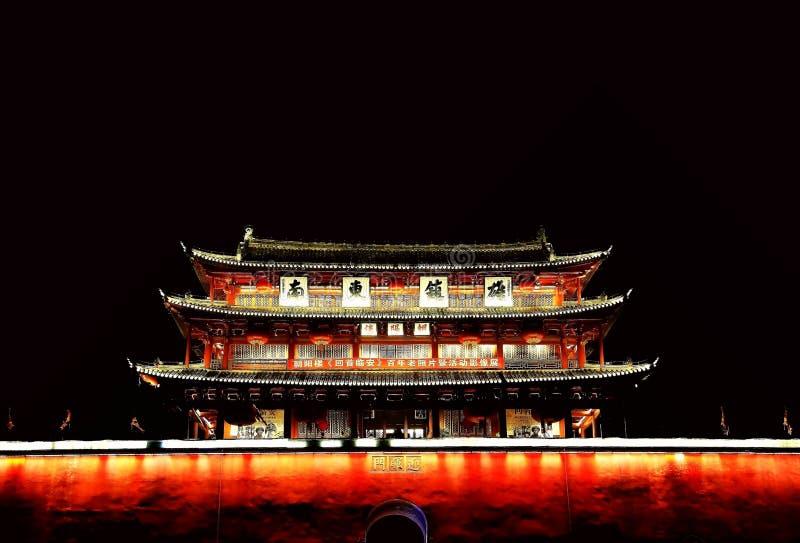 Parede da cidade antiga de Jianshui fotografia de stock royalty free