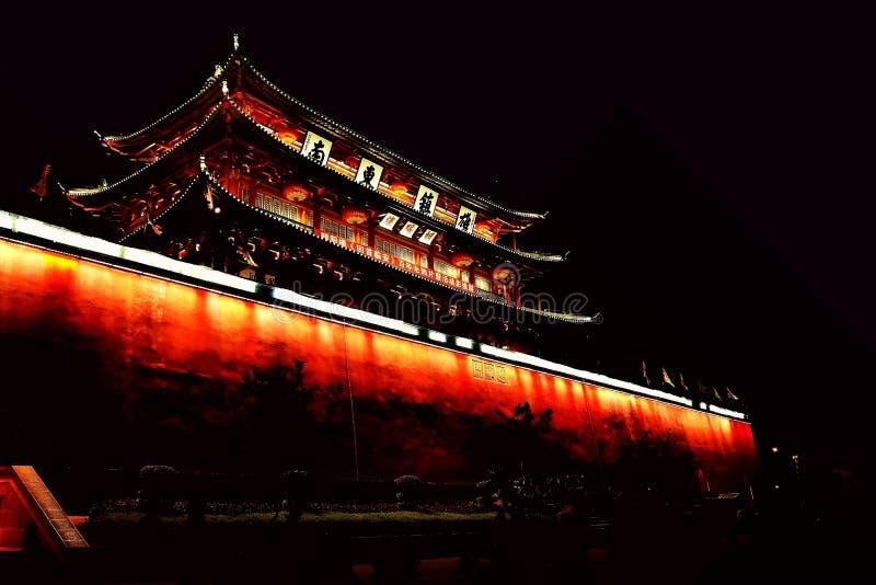 Parede da cidade antiga de Jianshui foto de stock
