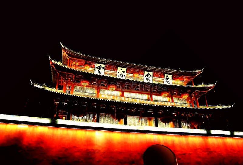Parede da cidade antiga de Jianshui imagem de stock