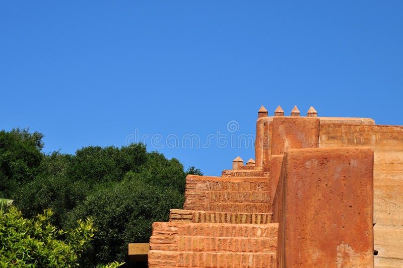 Parede da cidade de Chellah, Marrocos foto de stock
