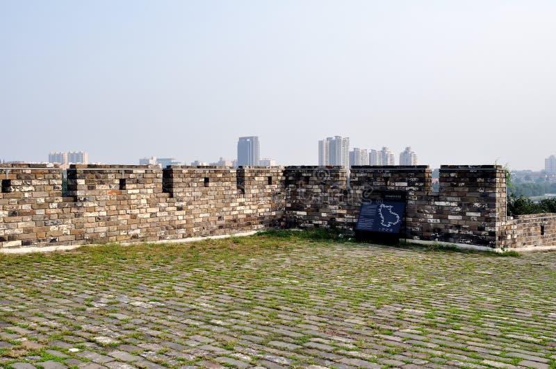 Parede da cidade de Nanjing na dinastia de Ming fotografia de stock royalty free