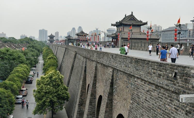 Parede da cidade de Xi'an imagens de stock royalty free