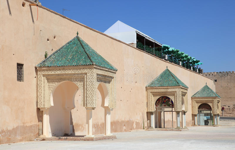 Parede da cidade em Meknes, Marrocos imagem de stock royalty free
