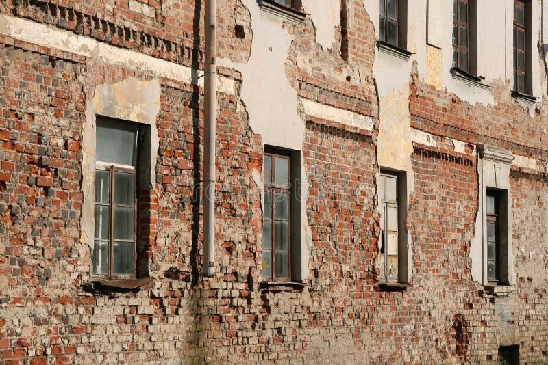 Parede da construção velha imagens de stock