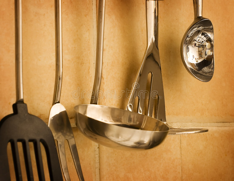 Parede da cozinha fotografia de stock