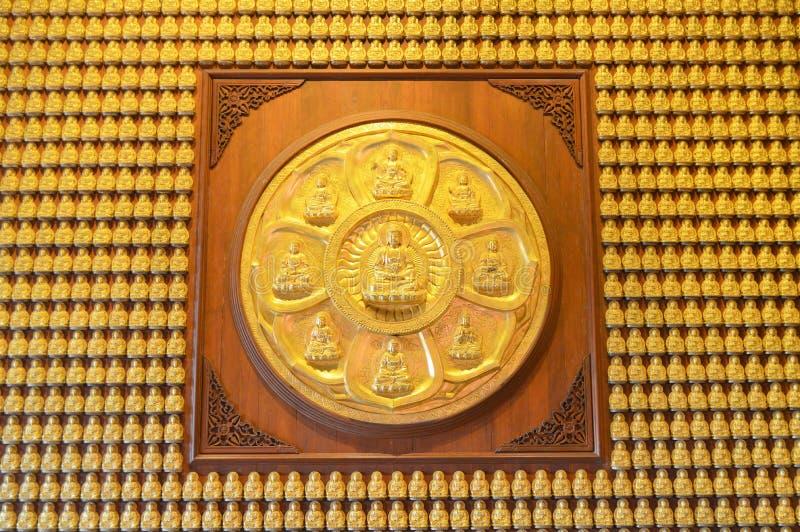 Parede da estátua da Buda imagens de stock royalty free