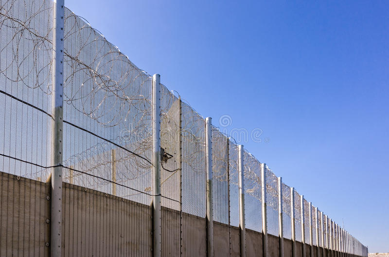 Parede da prisão foto de stock