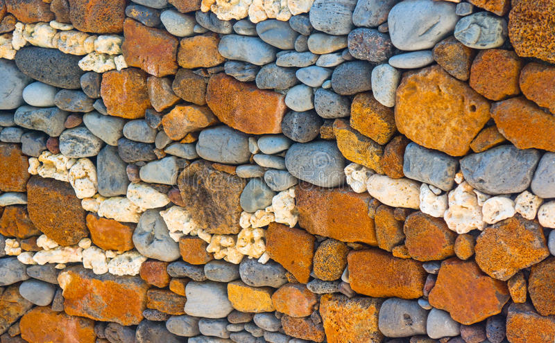 Parede da rocha com coral e pedra imagens de stock royalty free