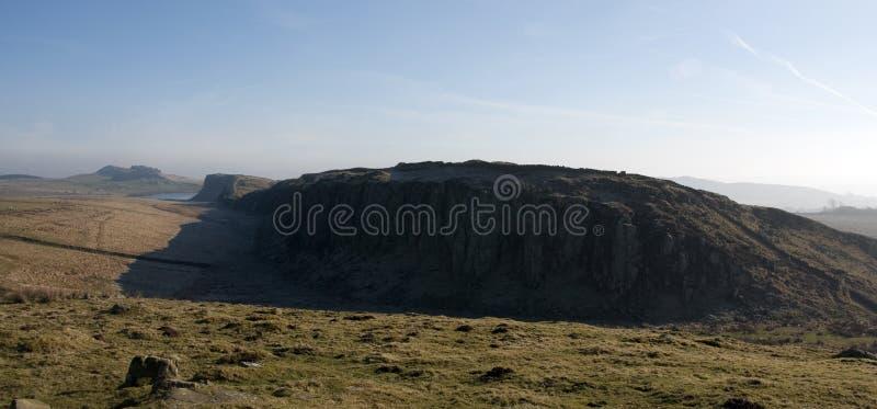 Parede de aço Northumberland de Hadrians do equipamento fotografia de stock