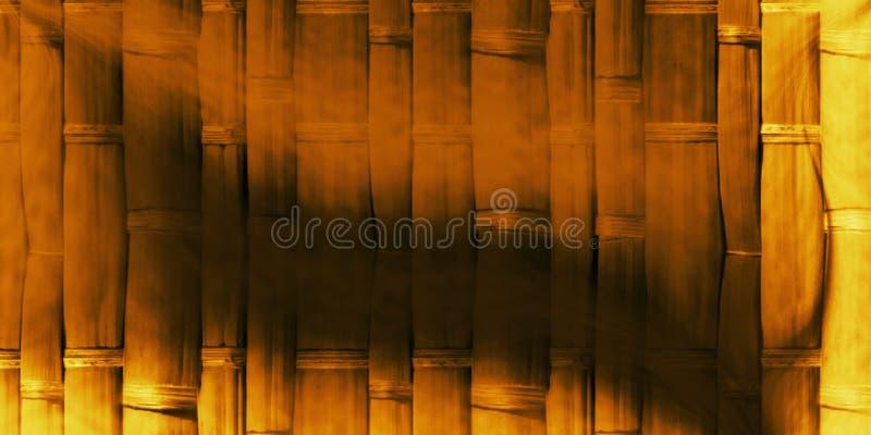 Parede de bambu bonita com fundo do efeito de sombra e projeto gerados por computador do papel de parede foto de stock
