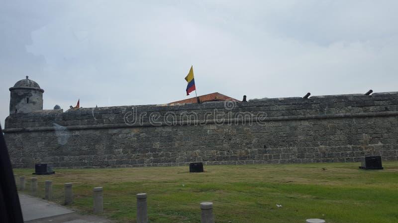 A parede de Cartagena fotos de stock