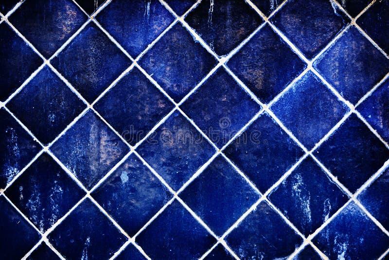 Parede de cerâmico azul fotos de stock royalty free