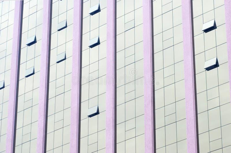 Parede de cortina de vidro fotografia de stock