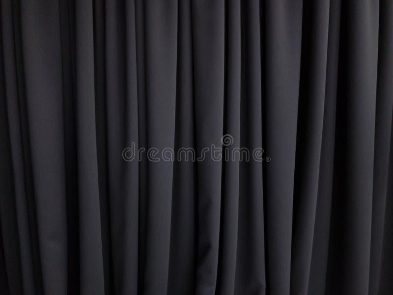 Parede de cortina preta foto de stock royalty free