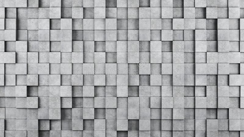 Parede de cubos concretos como o papel de parede ou o fundo ilustração royalty free