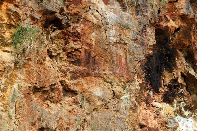 Parede de garganta africana colorido da rocha foto de stock