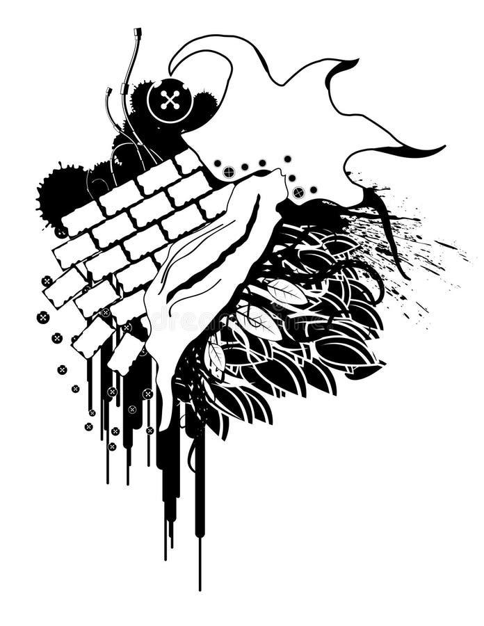 Parede de Grunge ilustração stock
