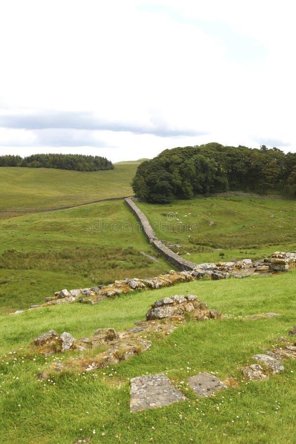 Parede de Hadrian fotos de stock