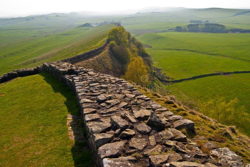 A parede de Hadrian imagem de stock royalty free