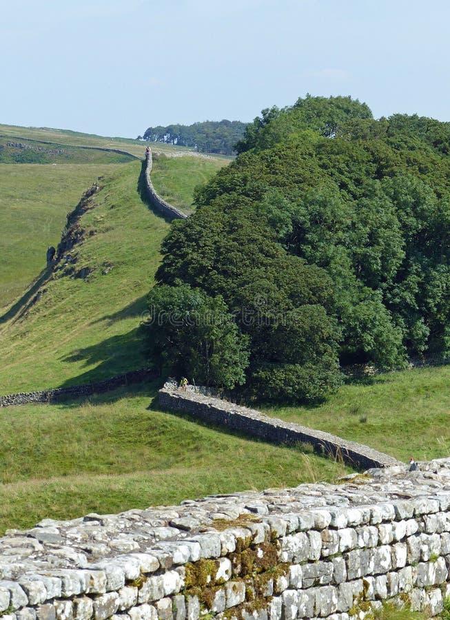 A parede de Hadrian perto de Housesteads fotografia de stock royalty free