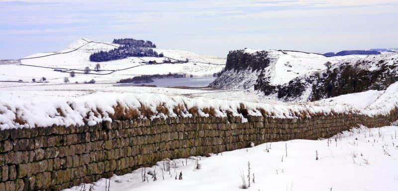 Parede de Hadrians fotos de stock royalty free