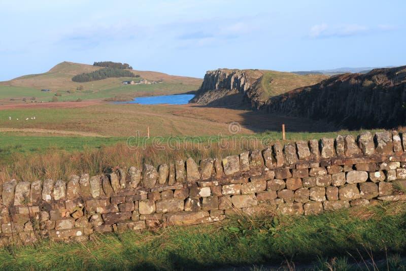 Parede de Hadrians em Rigg de aço imagem de stock