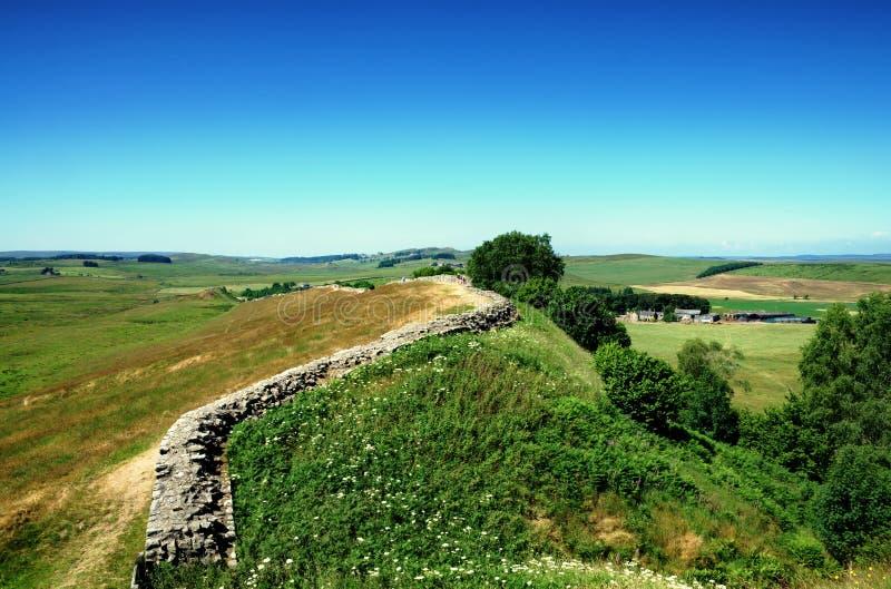 Parede de Hadrians, Northumberland imagem de stock royalty free