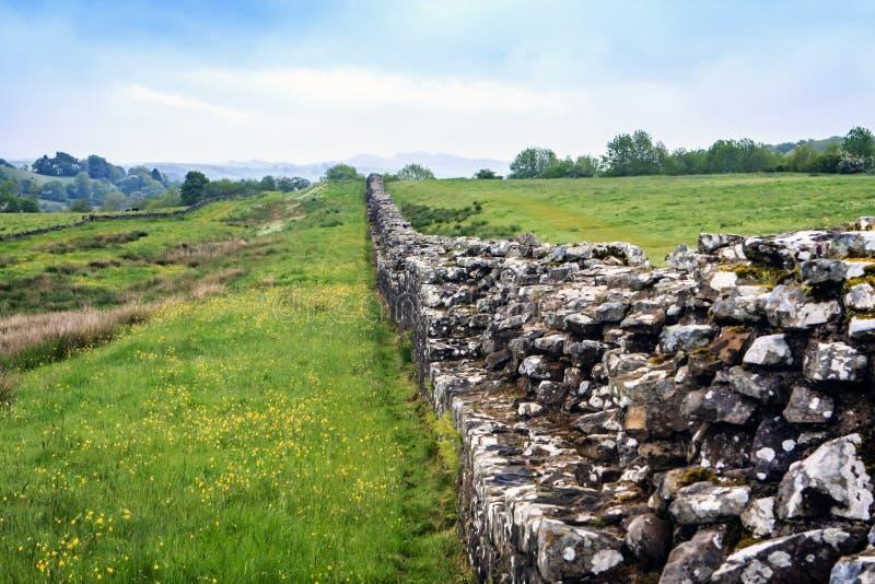 Parede de Hadrians, Northumberland, Inglaterra imagens de stock royalty free