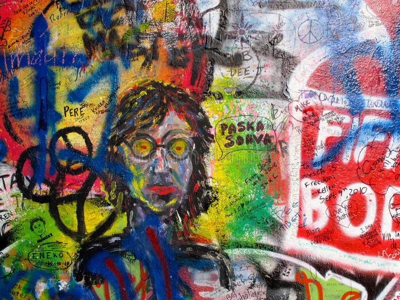 Parede de John Lennon imagem de stock royalty free