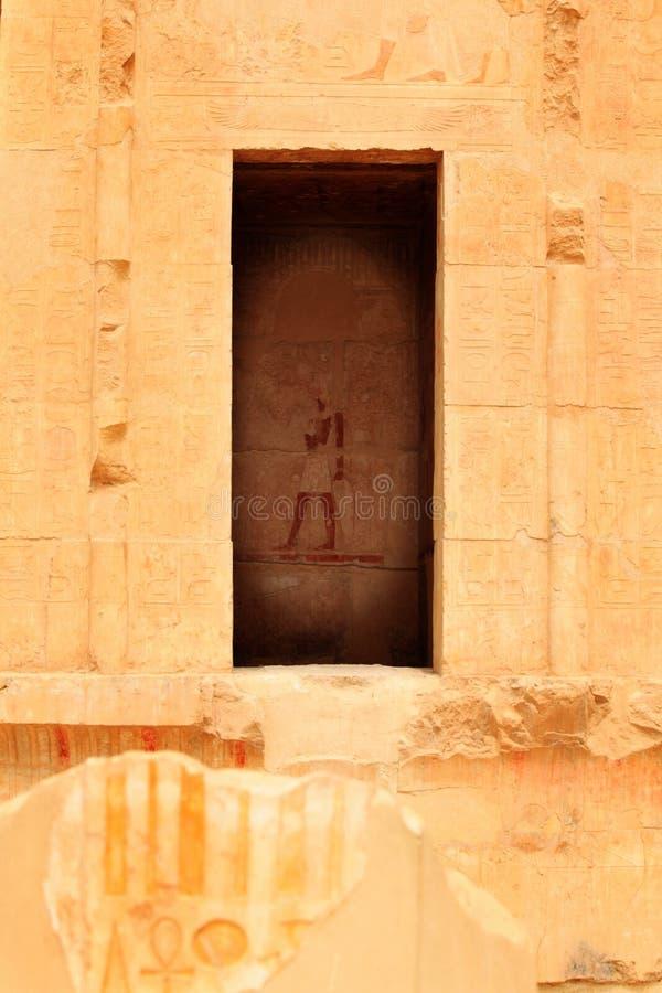 Parede de Karnak imagens de stock