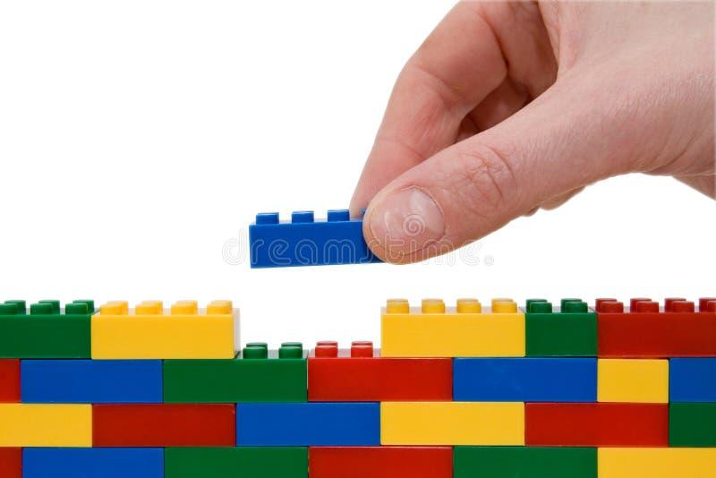Parede de Lego imagens de stock