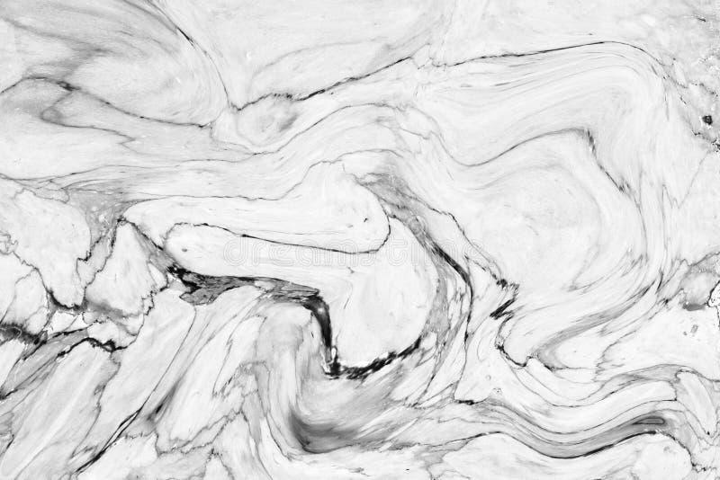 Parede de mármore branca abstrata da textura do teste padrão de onda para o DES interior fotos de stock royalty free