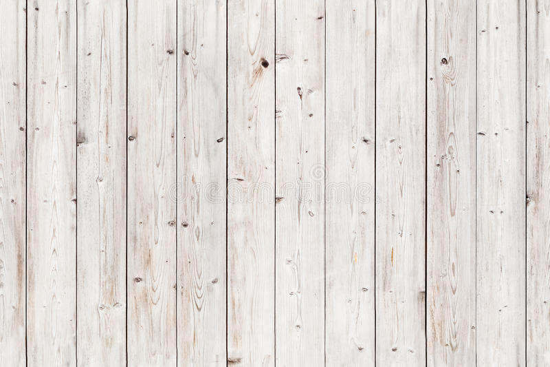 Parede de madeira branca velha Textura sem emenda do fundo imagens de stock