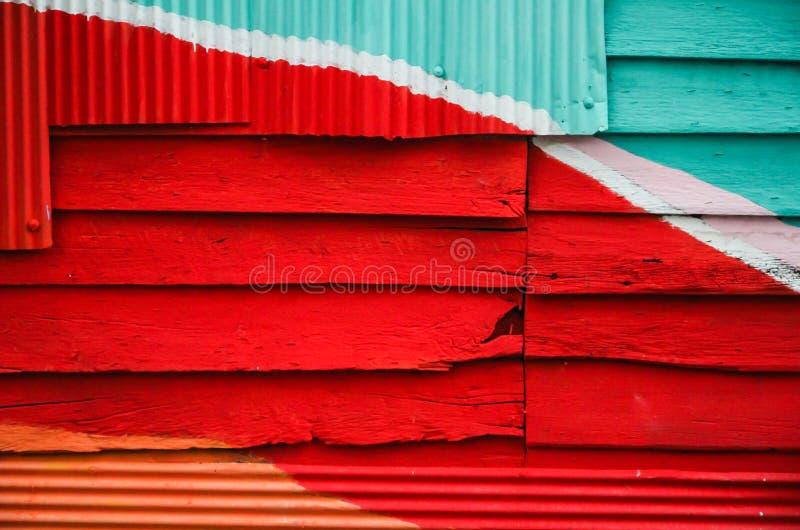 Parede de madeira colorida para o fundo foto de stock