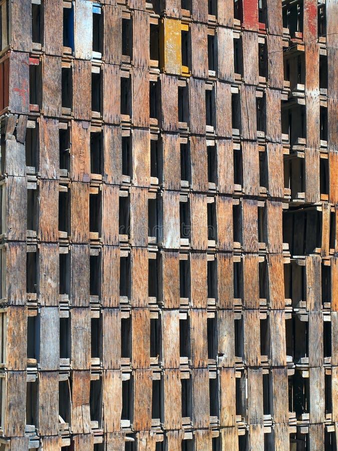 Parede de madeira da característica da matriz imagem de stock royalty free
