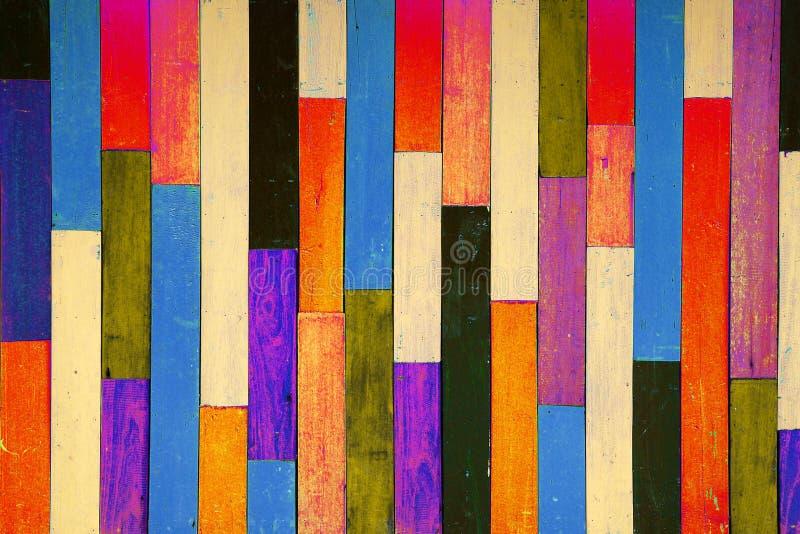 Parede de madeira da cor ilustração stock