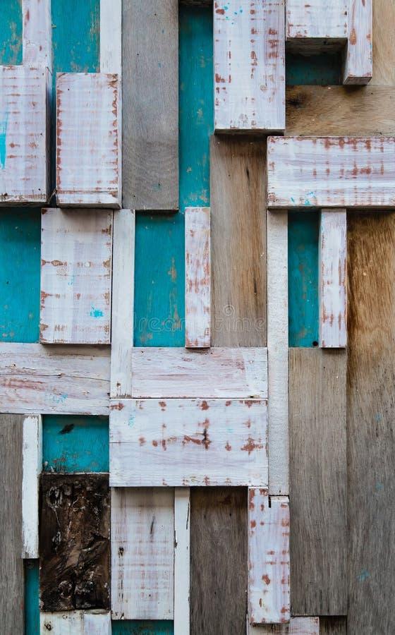 Parede de madeira da cor azul do projeto do vintage imagem de stock royalty free