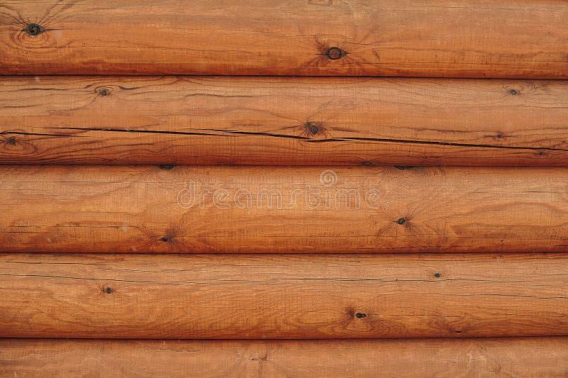 Parede de madeira dos registros fotografia de stock royalty free