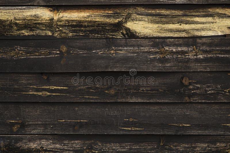 Parede de madeira preta imagens de stock royalty free