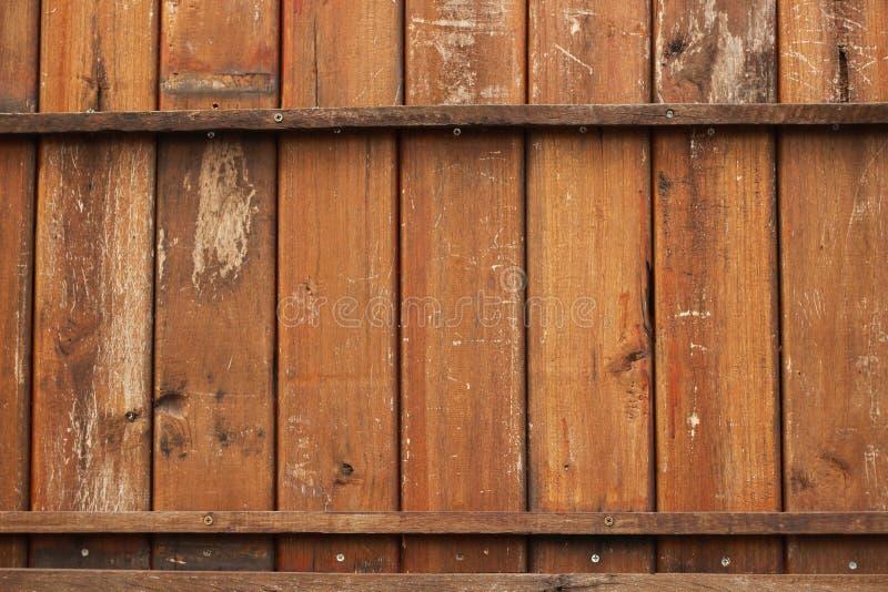 Parede de madeira velha de Brown, painéis de madeira do grunge usados como o fundo fotos de stock