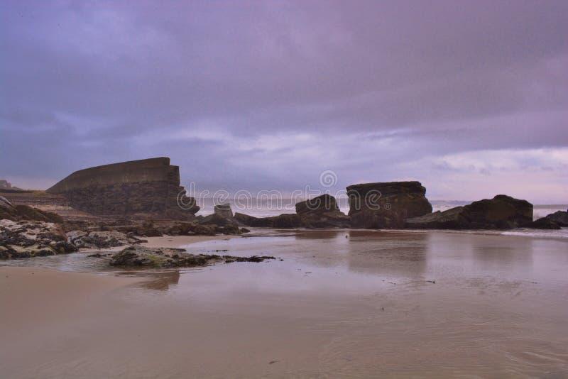 Parede de mar Errosion fotografia de stock royalty free