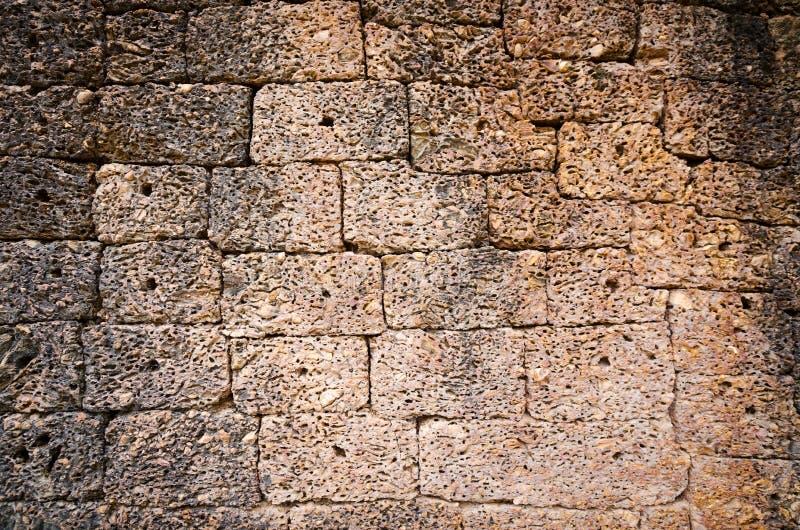 Superfície antiga da parede de pedra fotos de stock royalty free