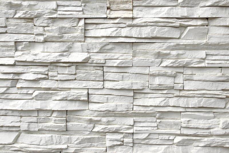 Parede de pedra artificial branca fotografia de stock royalty free