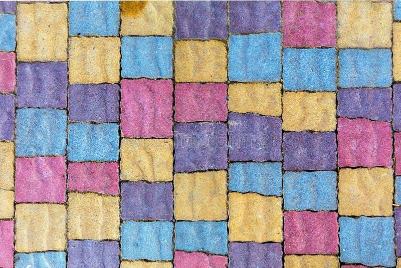 Download Parede De Pedra Colorida Do Bloco Foto de Stock - Imagem de projeto, colorido: 107525346