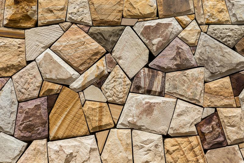 Parede de pedra construída pelo artesão foto de stock