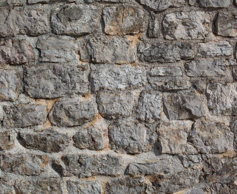 Parede de pedra do castelo velho imagem de stock