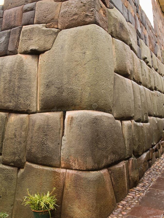 Parede de pedra do Inca foto de stock